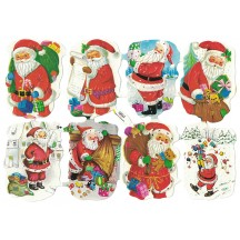 Santa with Gifts Embossed Scraps