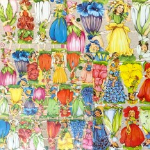 Mixed Flower Girls Master Scrap Pack ~ 5 Assorted Sheets