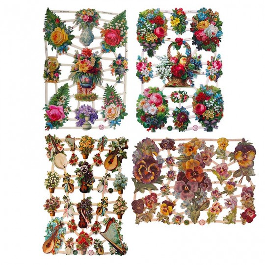 Mixed Flowers Master Scrap Pack ~ 8 Assorted Sheets