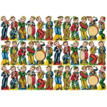 Vintage PZB Boys with Musical Instruments Scraps ~ Germany