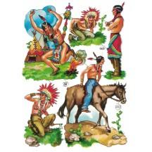 Rare Vintage PZB Indians Scraps ~ Germany