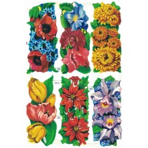 Vintage MLP Flower Block Scraps ~ England