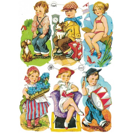 Vintage PZB Boys and Girls at Play Scraps ~ Germany