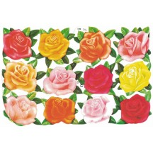 Mixed Roses Die Cut Scrap Sheet ~ MLP ~ England ~ Out of Print