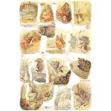 Beatrix Potter Tale of Benjamin Bunny Scraps ~ England