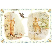 Large Beatrix Potter Tale of Peter Rabbit Scraps ~ England