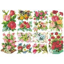Vintage EAS Flower Bouquet and Birds Scraps ~ Vintage EAS ~ Germany