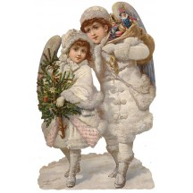 Large Christmas Snow Angels Scrap ~ Germany ~ New for 2015