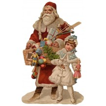 Large St. Nicholas with Toys Santa Scrap ~ Germany ~ New for 2015