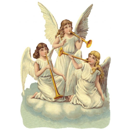 Trumpeting Angels Large Scrap ~ Germany ~ New for 2016
