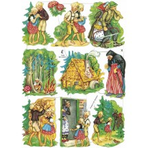 Hansel and Gretel Fairytale Die-Cut Scraps for Paper Crafts
