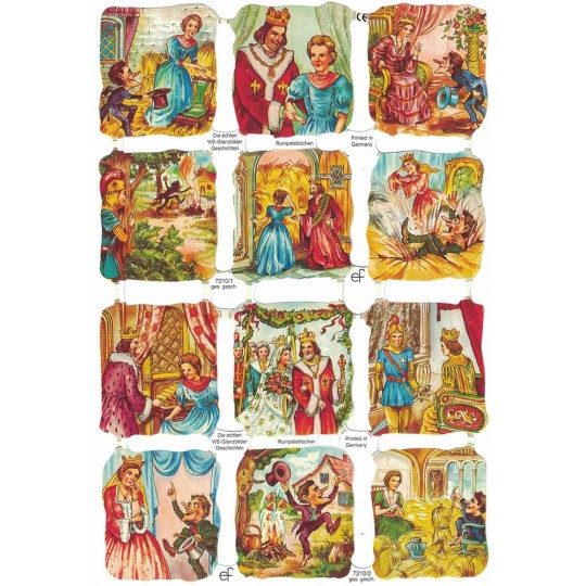 Rumplestiltskin Fairytale Die-Cut Scraps for Paper Crafts