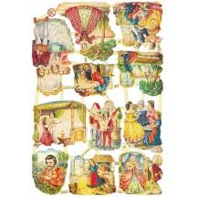 Cinderella Fairytale Die-Cut Scraps for Paper Crafts