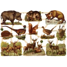 Wild Forest Animals Scraps ~ Germany ~ New for 2015