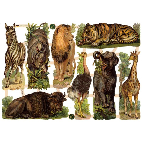 Wild Jungle Animals Scraps ~ Germany ~ New for 2015