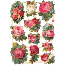 Mixed Pink Roses Scraps ~ Germany ~ New for 2016