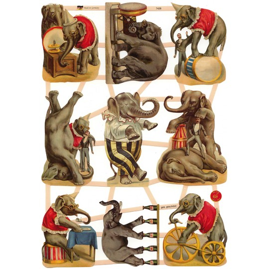 Mixed Circus Elephant Scraps ~ Germany ~ New for 2016