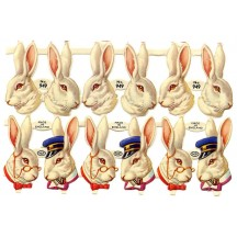 Dapper White Rabbit Easter Bunny Scraps ~ Vintage MLP ~ England