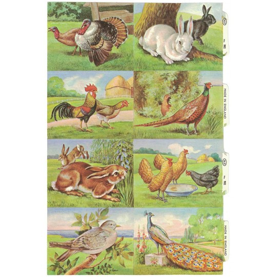 Rare Farm Animals Scraps ~ Vintage MLP ~ England