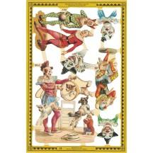 Victorian Circus Clowns Scraps ~ England