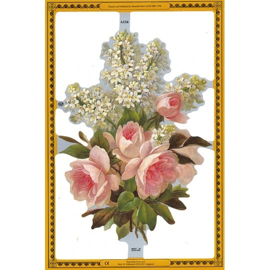 Pink Rose & Florals Scraps ~ England