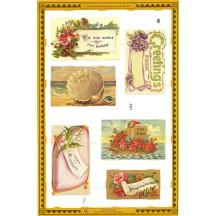 Victorian Calling Card Ephemera Scraps ~ England