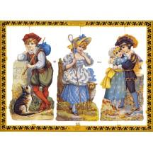 Victorian Children Fairytale Scraps ~ England ~ Large Sheet