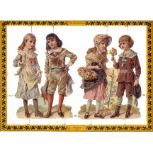 Victorian Children Scraps ~ England ~ Large Sheet
