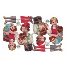 Antique Hansel and Gretel Christmas Oblaten Lebkuchen Scraps ~ L&B Germany ~ Small