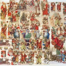 Mixed Santas Master Scrap Pack ~ 9 Assorted Sheets