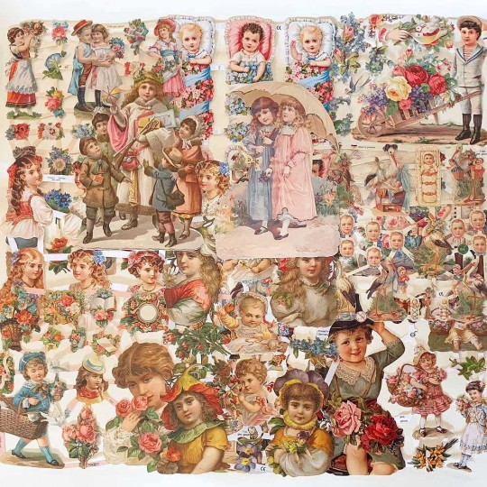 Mixed Victorian Children Master Scrap Pack ~ 10 Assorted Sheets