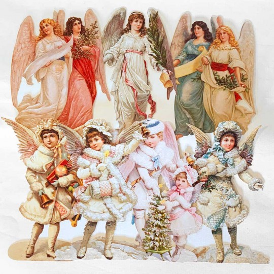 Christmas Angels Master Scrap Pack ~ 7 Assorted Large Scraps