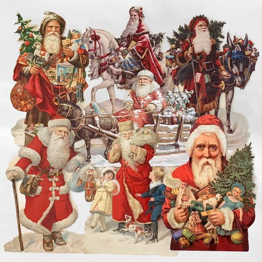 Santas Master Scrap Pack ~ 7 Assorted Large Scraps