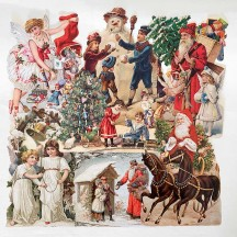 Victorian Christmas Master Scrap Pack ~ 7 Assorted Large Scraps