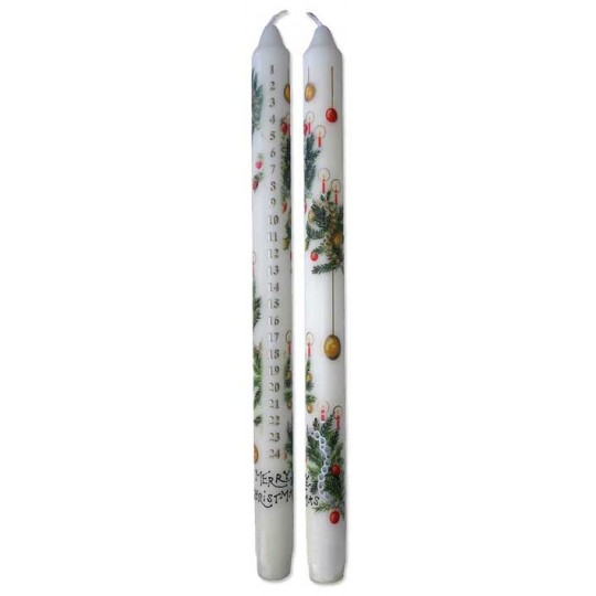 1 Merry Christmas Advent Candle -- Handmade in England