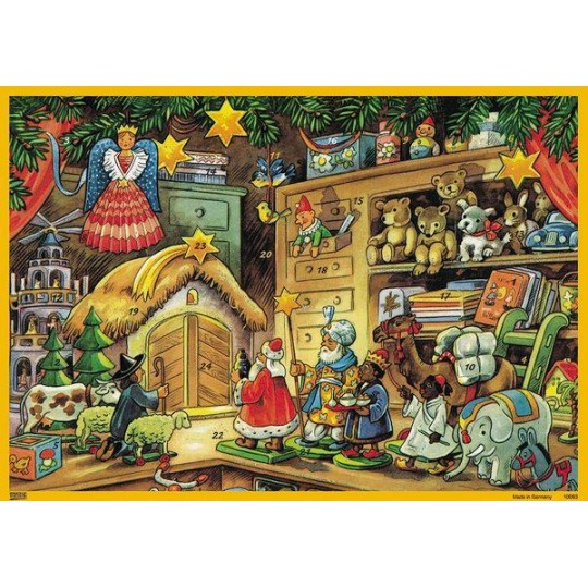 Toys Delivering Gifts Paper Advent Calendar
