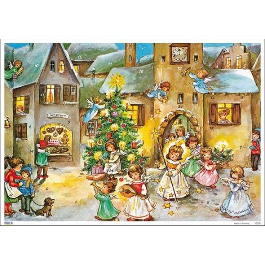 Musical Angel Parade Paper Advent Calendar ~ Hummel