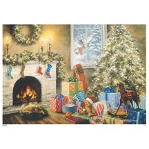 """Colorful Christmas Gifts and Tree Paper Advent Calendar ~ 8-1/4"""" x 11-3/4"""""""