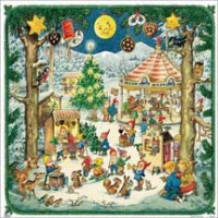 Christmas Elf Fair Paper Advent Calendar ~ Germany