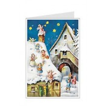 Musical Angels Advent Calendar Card ~ Germany