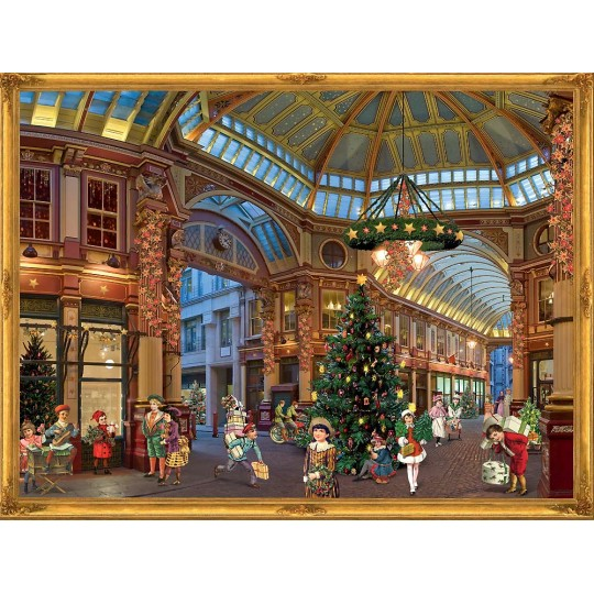"Victorian Christmas Shopping Galeria Advent Calendar ~ 14"" x 10"""