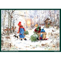 "Enjoying the Woods Christmas Advent Calendar ~ 8-1/4"" by 11-5/8"""