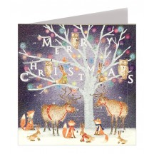 Enchanted Tree Advent Calendar Card ~ England