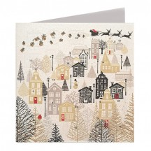 Silent Night Advent Calendar Card ~ England