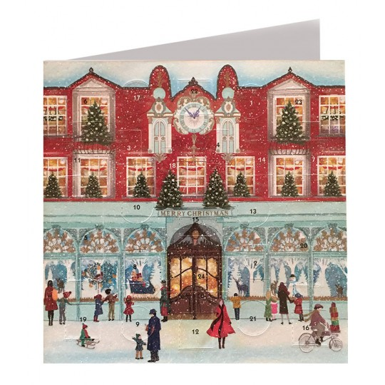 Christmas Shopping Advent Calendar Card ~ England