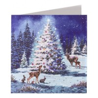 Christmas Tree and Deer Advent Calendar Card ~ England