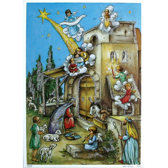 Angels Manger Advent Calendar ~ Germany