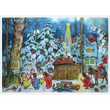 "Snowy Singing Angels Advent Calendar ~ 11-5/8"" x 8-1/4"""