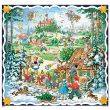 "Beautiful Classic Fairytale Square Advent Calendar ~ Germany ~ 11-3/4"" x 11-1/4"""