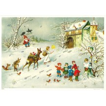 "Children and Angels Advent Calendar ~ 11-5/8"" x 8-1/4"""